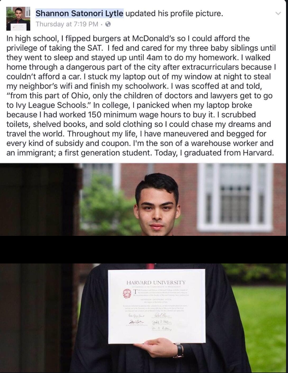 Burger seller turn Harvard graduate